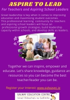 ASPIRE to LEAD: Professional Learning Community for Teachers and Aspiring School Leaders