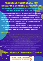 Assistive Technology for Specific Learning Difficulties