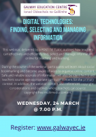 Digital Technologies:  Finding, Selecting and Managing Information