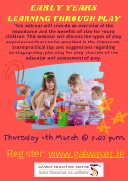 Early Years : Learning through Play