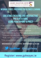 Preparing for Blended Learning: Creating Engaging and Interactive Presentations using Powerpoint & Prezi