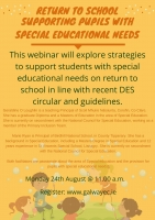 Return to School: Supporting Children with Special Educational Needs