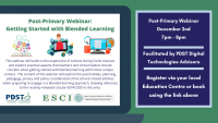 ESCI/PDST: Getting Started with Blended Learning