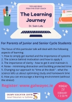 The Learning Journey- Tips and Ideas from The Study Coach: Webinar for Parents of Junior and Senior Cycle Students