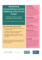 Maintaining Connectedness and the Wellbeing of School Leaders